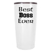 YETI 20 oz Best Boss Ever on White Tumbler