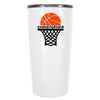 YETI 20 oz Basketball Hoop Personalized Design on White Tumbler