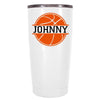 YETI 20 oz Basketball Personalized Design on White Tumbler