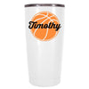 YETI 20 oz Personalized BasketBall on White Tumbler