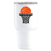 YETI 30 oz Basketball Hoop Personalized Design on White Tumbler