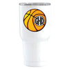 YETI 30 oz Basketball Monogram Design on White Tumbler