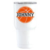 YETI 30 oz Basketball Personalized Design on White Tumbler