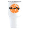 YETI 30 oz Personalized BasketBall on White Tumbler