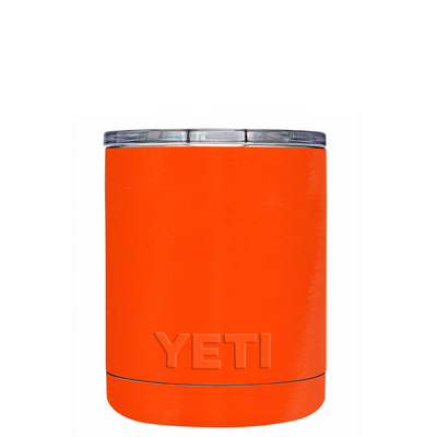 Custom YETI 10 oz Orange Gloss Design Your Own Tumbler
