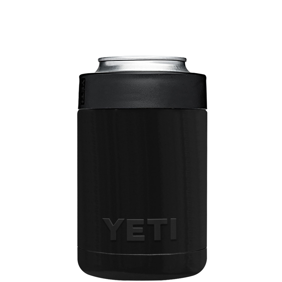 Custom YETI Colster Black Gloss Design Your Own Bottle & Can Cooler