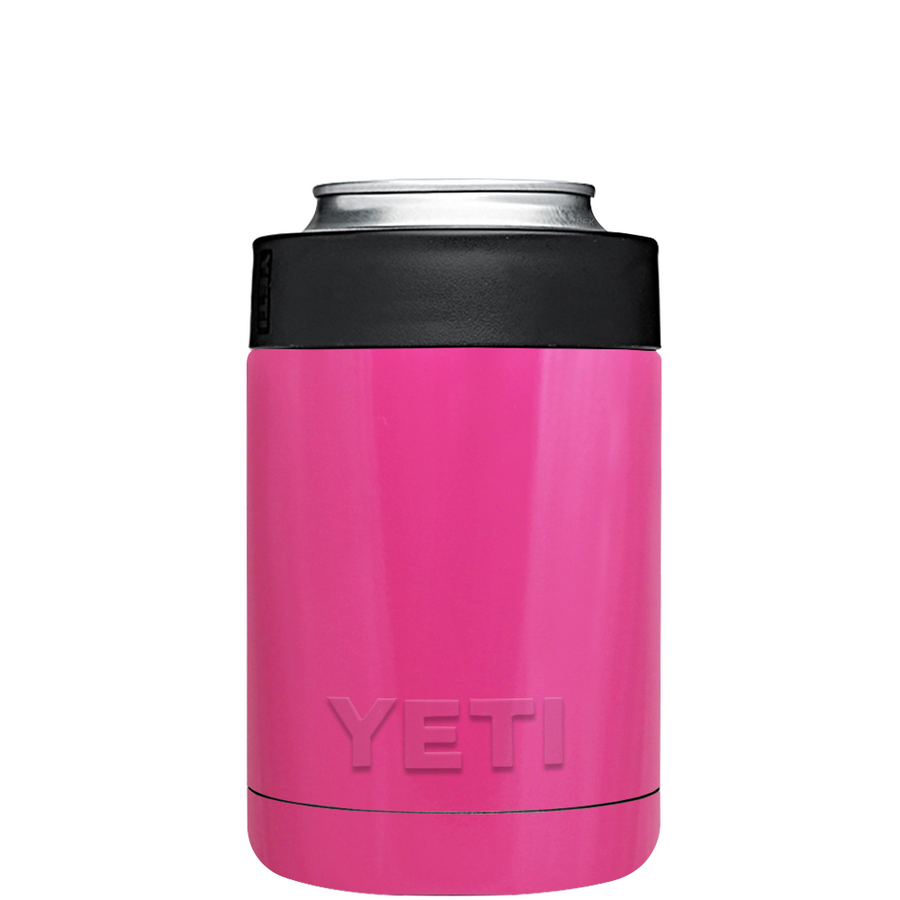 Custom YETI Colster Bright Pink Design Your Own Bottle & Can Cooler