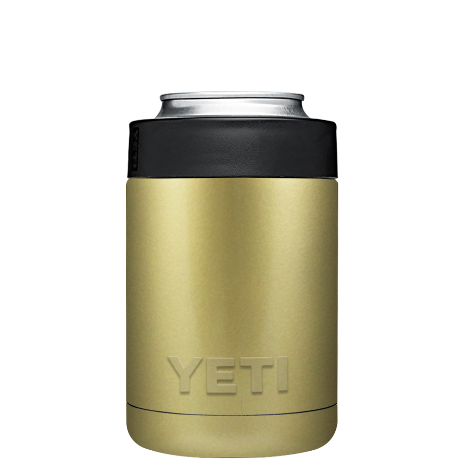 Custom YETI Colster Gold Design Your Own Bottle & Can Cooler