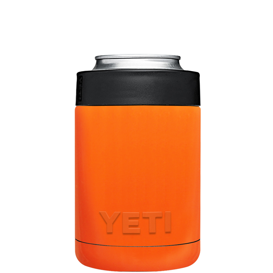 YETI Bright Orange Colster Can Cooler & Bottle Insulator
