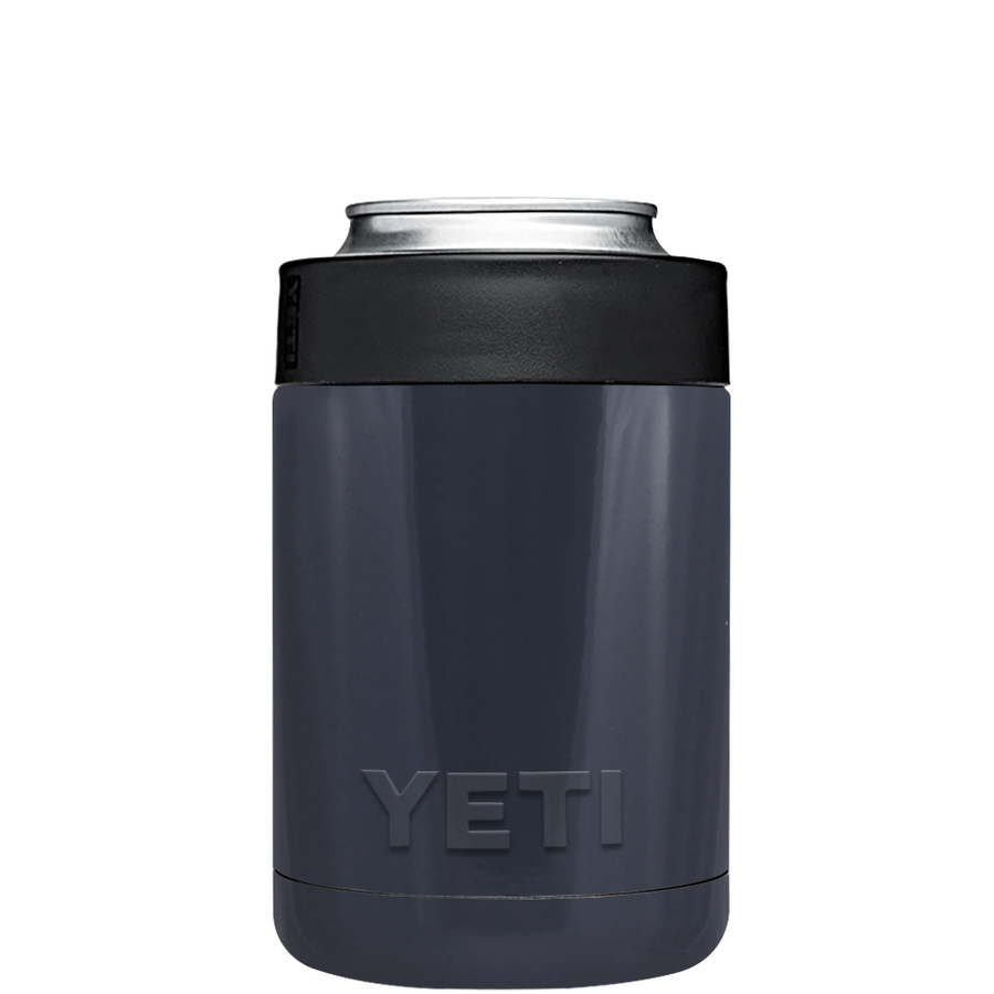 YETI Blue Grey Colster Can Cooler & Bottle Insulator