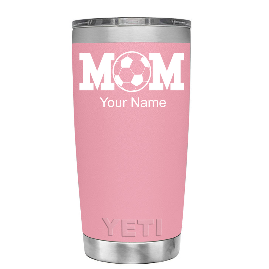 YETI 20 oz Soccer Mom on Pink Tumbler
