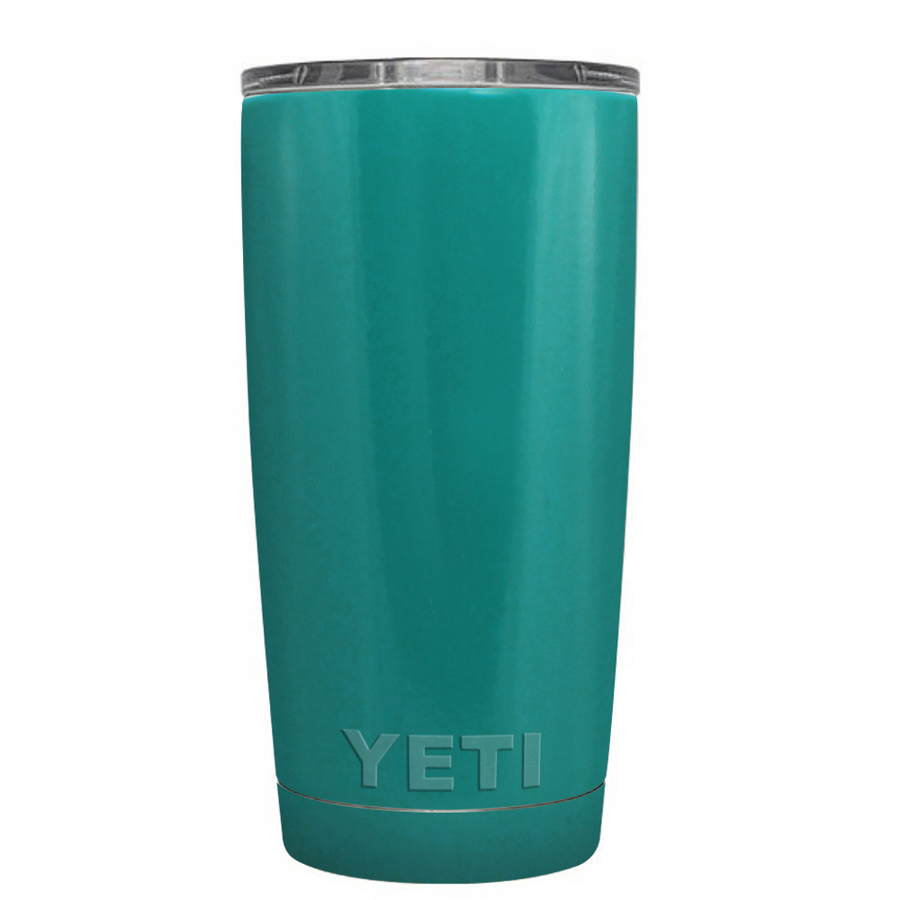 Custom YETI 20 oz Aqua Blue Design Your Own Tumbler