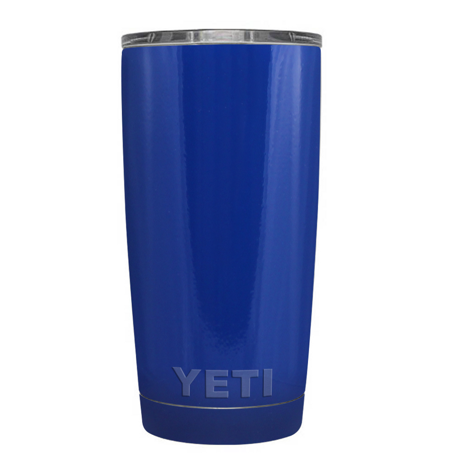 Custom YETI 20 oz Blue Gloss Design Your Own Tumbler