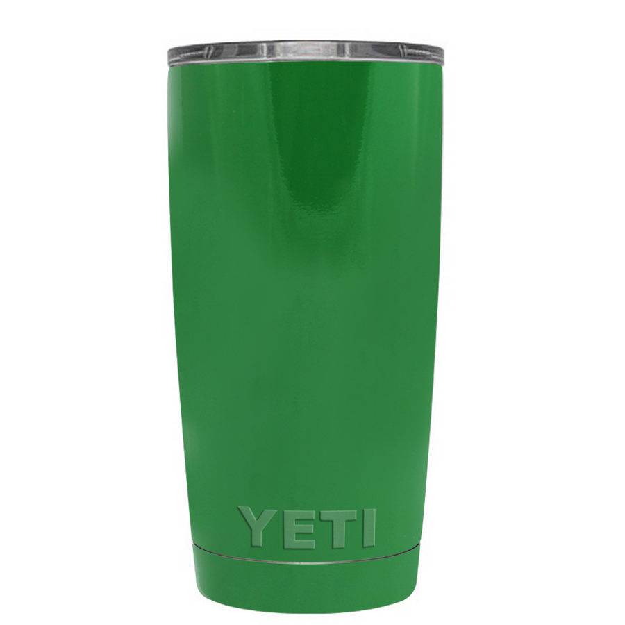 Custom Designed YETI Kelly Green Gloss 20 oz Rambler Tumbler