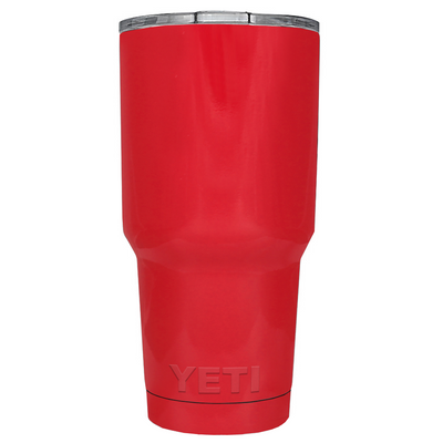 Custom YETI 30 oz Red Gloss Design Your Own Tumbler