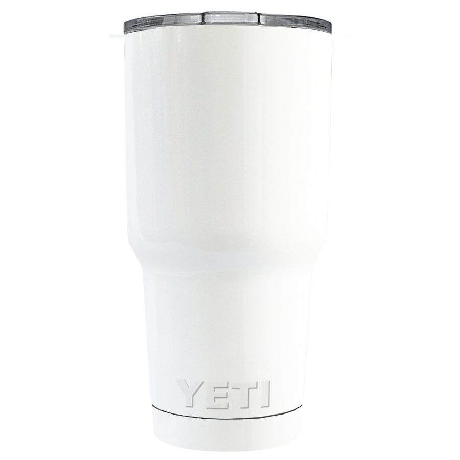 Custom YETI 30 oz White Gloss Design Your Own Tumbler