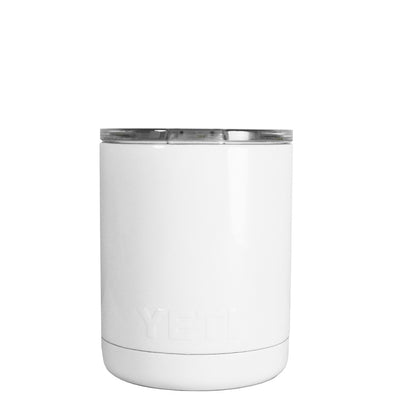Custom YETI White Gloss 10 oz Lowball Tumbler