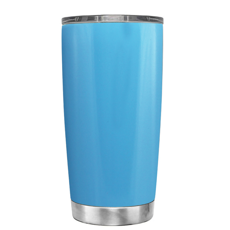 YETI 20oz Substantial Amount of Coffee on Baby Powder Blue Tumbler