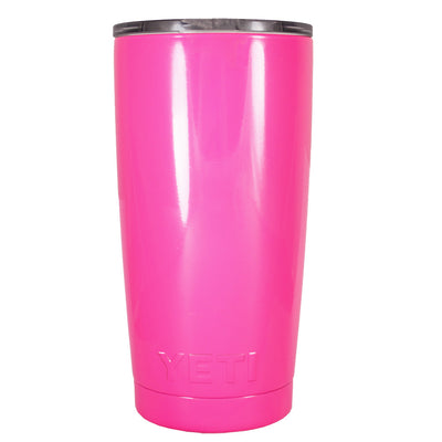 Custom YETI Hot Pink Gloss 20 oz Rambler Tumbler