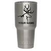 YETI Buck with Antlers Silhouette Personalized 30 oz Rambler