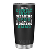 YETI 20oz Wearing Camo, Rocking Ammo on Black Matte Tumbler