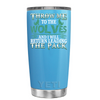 YETI 20oz Throw me to the Wolves on Baby Powder Blue Tumbler