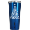 Corkcicle 24 oz Bright Star on Leafy Tree on Blue Translucent Tumbler
