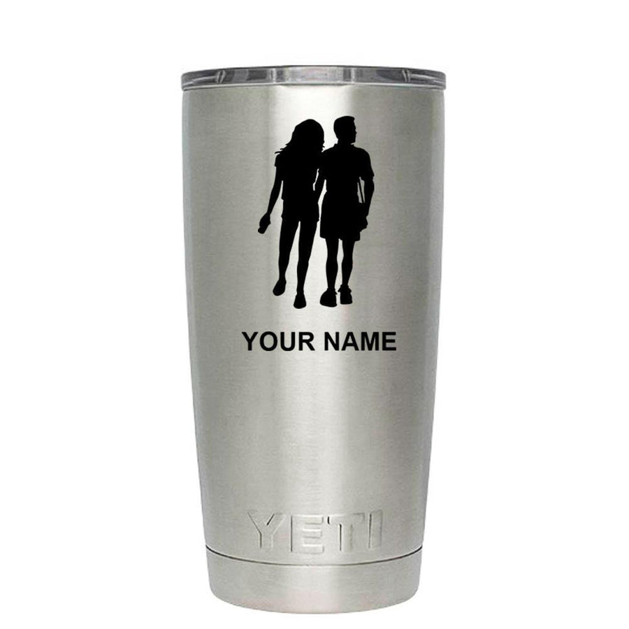 YETI 20 oz Tourist couple Laser Etched