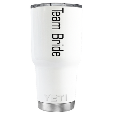 YETI 30oz Simple Team Bride on White Tumbler