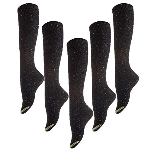 Meso Women's 5 Pairs Knee Length Cotton Boot Socks Size(Assorted)