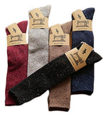 Lian LifeStyle Women's 4 Pairs Knee Length Cotton Socks Size 7-9