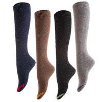 Meso Women's 4 Pairs Pack Durable Knee-High Soft Cotton Boot Socks Size 6-9