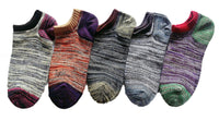 Meso Women's 5 Pairs Pack No Show Combed Cotton Socks Size 6-8
