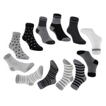 Meso Unisex Baby 6 Pairs Pack Non-Skid Non-Slip Organic Cotton Socks 1Y-3Y