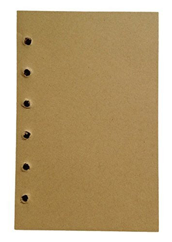 Meso 154 Sheets Leather Cover Leaf Blank Journal 6 Hole Inserts