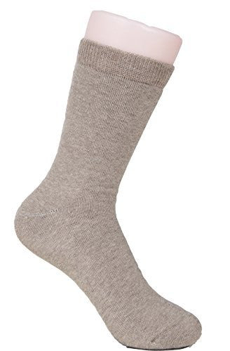 Lian LifeStyle Women's 2 Pairs Extra Thick Cashmere Wool Socks Plain Size 7-9