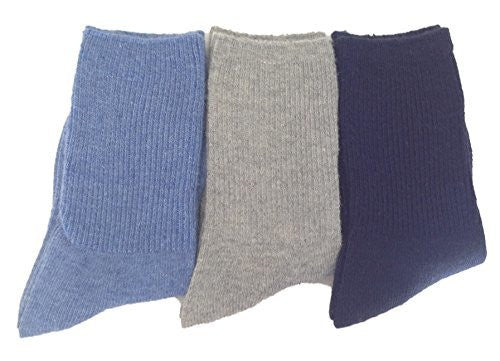 Lian LifeStyle Children 4 Pairs Pack Wool Socks Plain Color