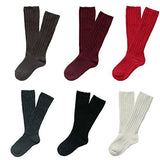 Lian LifeStyle Children 6 Pairs Knee High Cashmere Wool Socks 3 Sizes