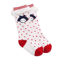 Lian LifeStyle Unisex Baby 1 Pair Non Slip Cotton Socks 1Y-3Y Multi Color