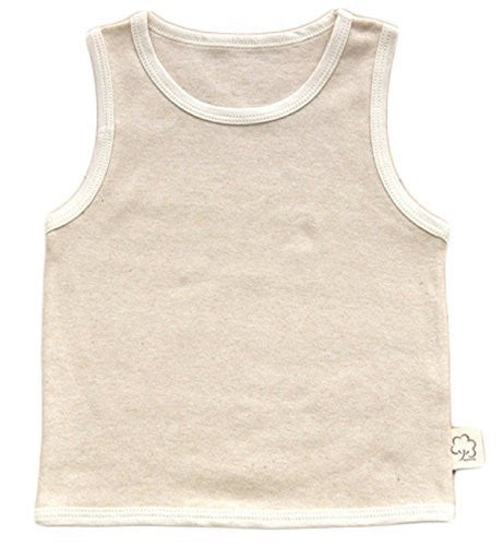 Meso Infant Baby's 1 PK Organic Cotton Tank Beige 5 Sizes(0Y-6Y)