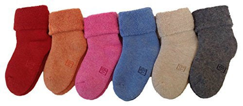 LLS Children 1 Pair Cashmere Wool Socks Plain Color 3 Sizes