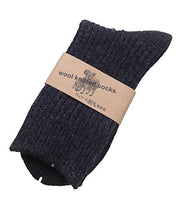 Lian LifeStyle Men's 9 Pairs Knitted Wool Crew Socks One Size 8-11