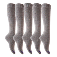 Meso Big Girl's Women's 5 Pairs Splendid Knee High Cotton Socks M158212 Size 6-9
