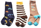 LLS Unisex Baby 3 Pairs Cotton Crew Socks 2 Sizes(0Y-2Y)