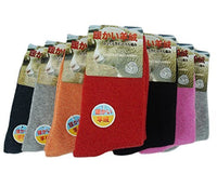Lovely Annie Women's 2 Pairs Thick Cashmere Wool Socks Solid Color Size 7-9