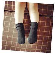 Lian LifeStyle Baby's 2 Pairs Pack Fashion Soft Wool Crew Socks 3 Sizes 0Y-8Y HR1617