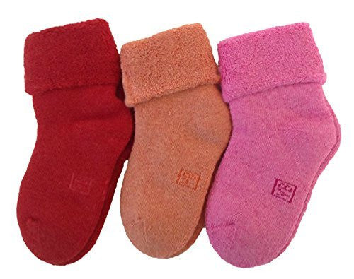 LLS Children 3 or 6 Pairs Cashmere Wool Socks Plain Color 3 Sizes