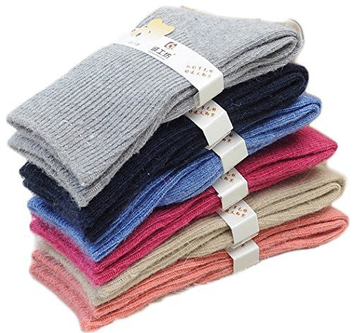 Meso CGF Children 4 Pairs Wool Socks Plain Color