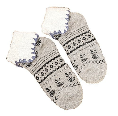 Lovely Annie Girls' Women's 2 Pairs Angora lambs Wool Thick Socks Classical