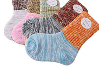 Lian LifeStyle Unisex Children 5 Pairs Pack Combed Cotton Socks Striped